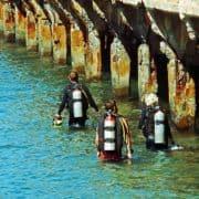 scuba divers at mala warf